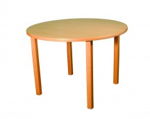 TABLE RONDE 4 FT diam.120 MADERO METALLIC